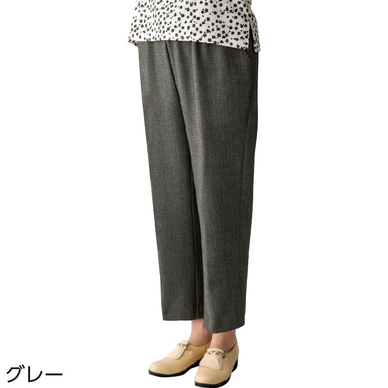 4599fcceb45c36 縦伸びストレートパンツ(婦人)(M ブラウン): ユニバーサルファッション ...